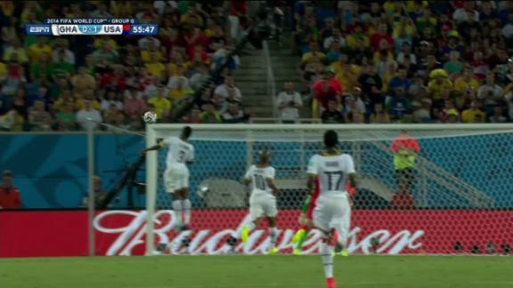 Asamoah Gyan (Ghana) Shot Off Target at 56'