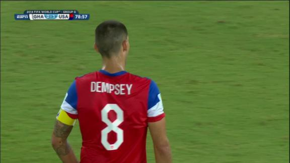 Clint Dempsey (United States) Shot On Target at 79'