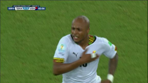 Andre Ayew (Ghana) Goal at 82'