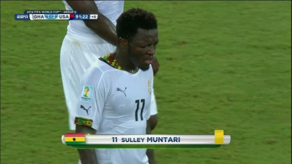 Sulley Muntari (Ghana) Yellow Card at 92'