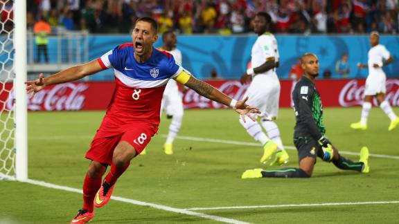 Dempsey gives U.S. first half lead