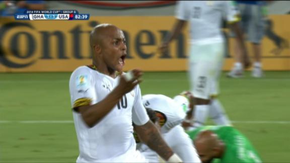 GOAL: Ayew (82') Ghana 1-1 United States