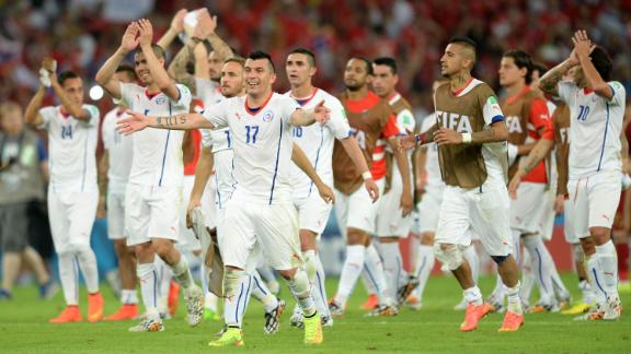 Chile shock the reigning champions
