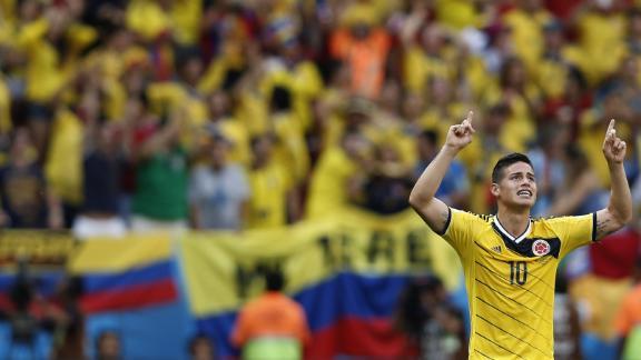 Stars shine for Colombia, Uruguay