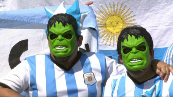 Men in Blazers: Star-studded Argentina fans