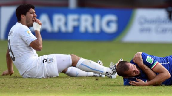 WATCH: Could Suarez be in trouble for apparent bite?