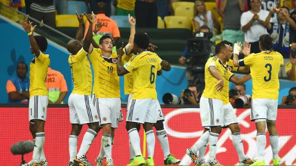 Brazil and Colombia to meet in the quarterfinals