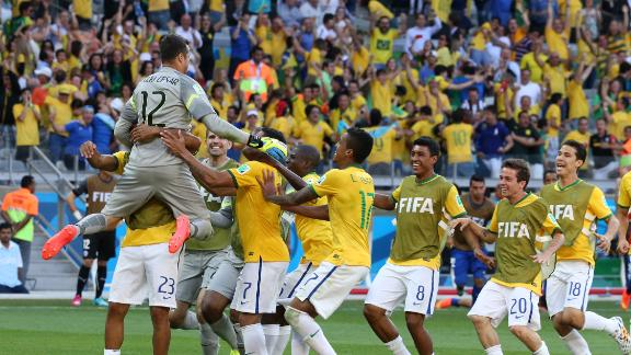 Brazil survive early exit scare