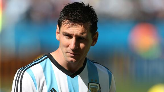 Messi says Argentina were lucky