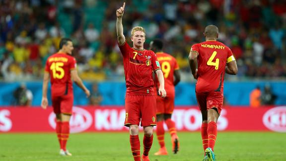 U.S. bow out in valiant fight against Belgium