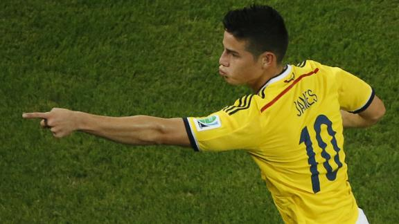 James takes on Neymar
