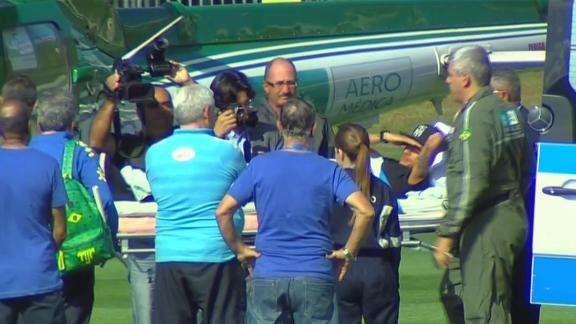 WATCH: Neymar boards a helicopter