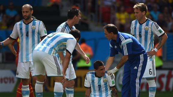 Argentina survive despite Di Maria injury