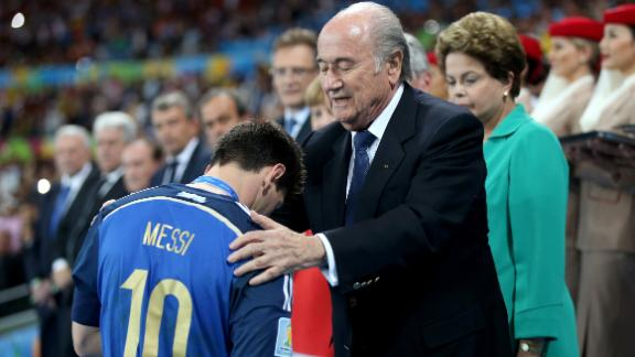 Blatter: Surprised when Messi collected trophy