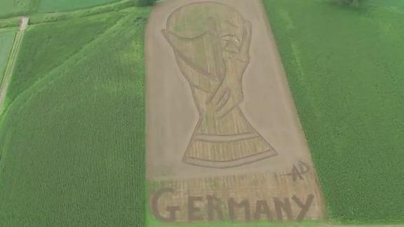 WATCH: Tractor tribute for Germany