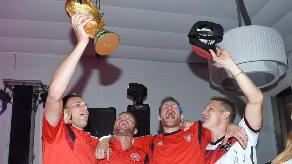 World Champions Germany prepare for journey home