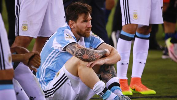 Messi 'done playing with the national team'
