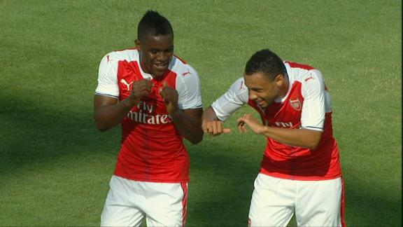 Campbell puts Arsenal ahead from penalty spot