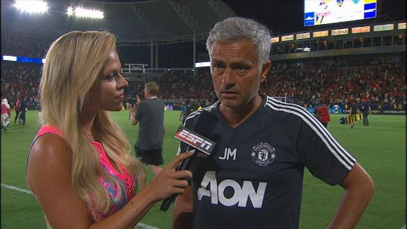 Mou happy with positioning in United win