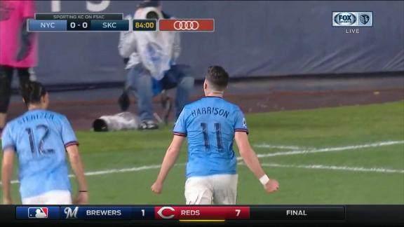 Harrison coolly gives NYCFC a late opener