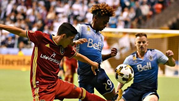 Vancouver 3-2 RSL: Whitecaps hang on