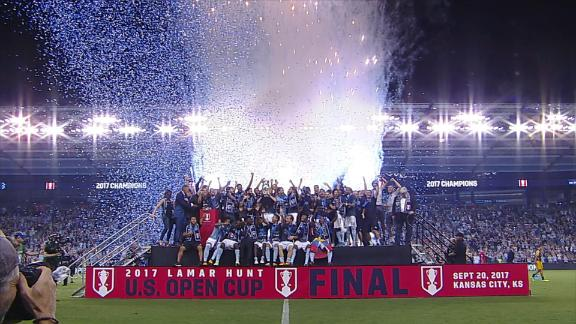WATCH: SKC lift fourth Open Cup in style