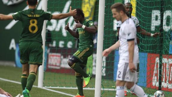 Portland 2-1 Vancouver: Timbers top the West