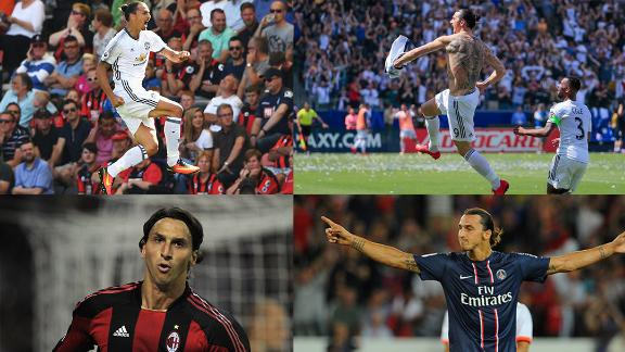WATCH: Ibrahimovic's first goal at every club
