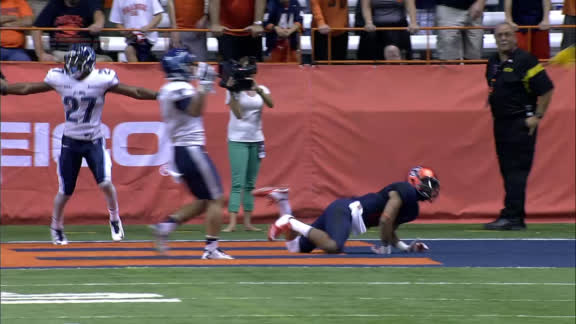 OT SYR VILLANOVA penalty, Defensive pass interference (8 Yards) for a 1ST down