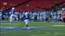 M. Johnson pass intercepted,B. Baker return for 13 yds