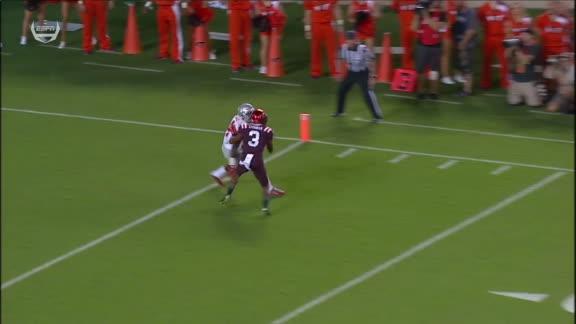 Jones goes deep for a touchdown