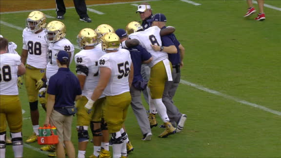 Malik Zaire leaves game with injury