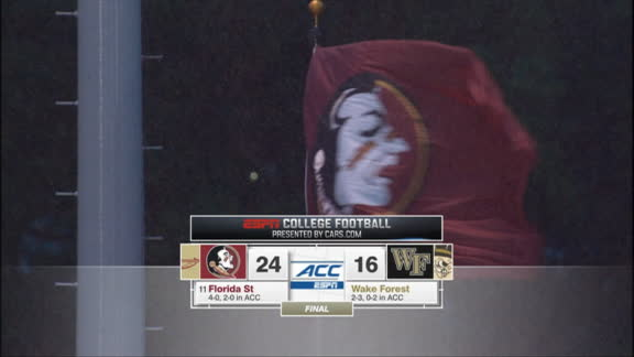 Florida State hangs on to beat Wake Forest