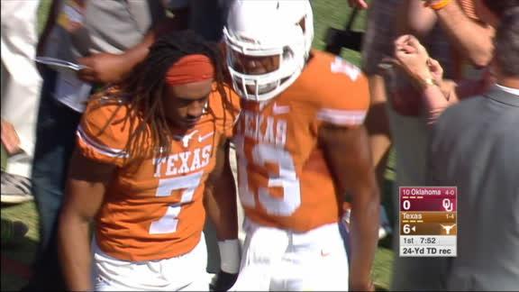 Texas takes early lead on long run