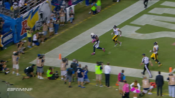 Video - Gates making presence known with 2nd TD