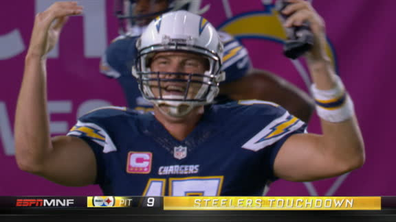 Video - Rivers picked off for TD