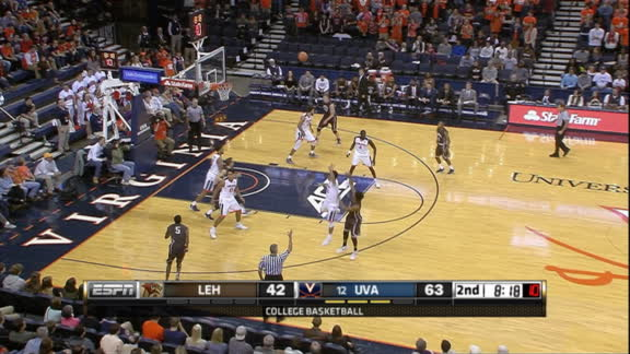 K. Leufroy made Three Point Jumper. Assisted by K. Ross.