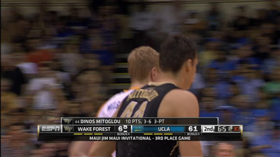 K. Mitoglou made Three Point Jumper. Assisted by M. Wilbekin.