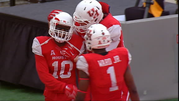 Houston blows past Navy, clinches spot in AAC title game