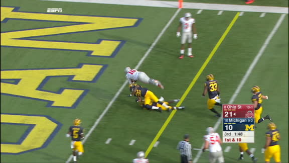 Buckeyes, Elliott run over Wolverines at the Big House