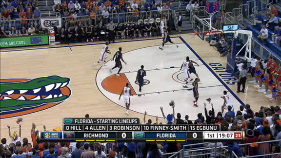 K. Allen made Three Point Jumper. Assisted by D. Finney-Smith.