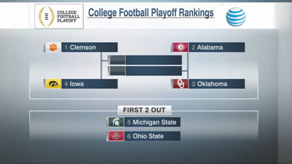 College Football Playoff rankings: 1-6