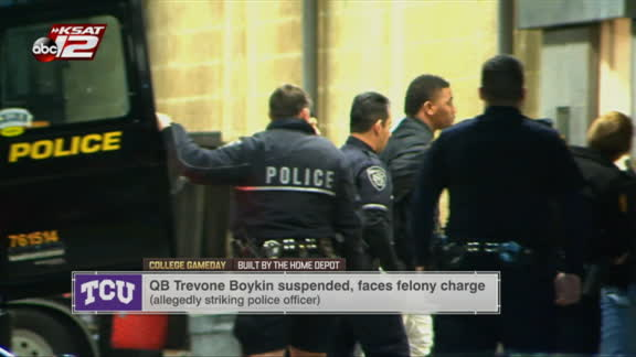 Boykin suspended, faces felony charge