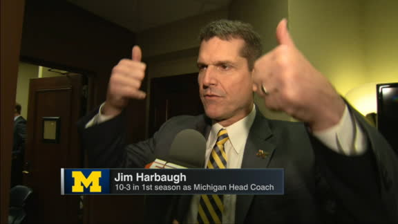 Harbaugh's thoughts on signing day: 'Fun, wonderful'