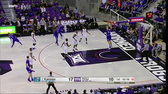 Ellis capitalizes on TCU's poor defense with massive dunk