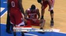 Anthony Barber injures wrist.