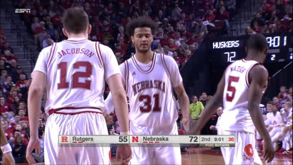 The dynamic duo. S. Shields made Layup. Assisted by G. Watson Jr.
