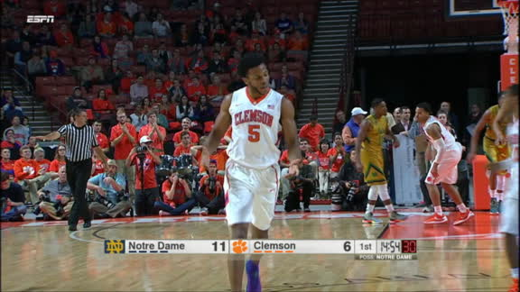 J. Blossomgame made Jumper. Assisted by D. Grantham. Three early buckets for the junior.