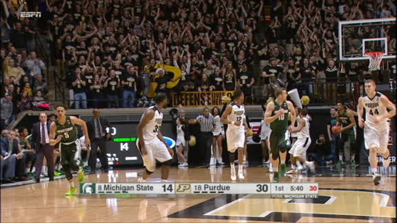 Purdue building commanding lead over Michigan State