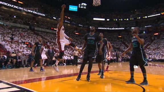 Wade cut through defense easily for layup